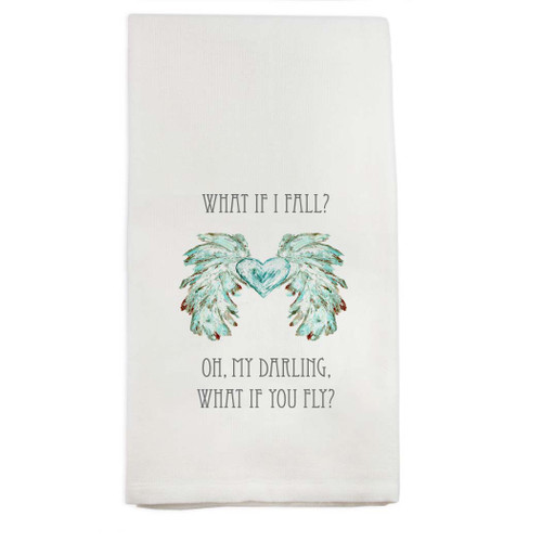 Wings with Heart What if I Fail Dishtowel