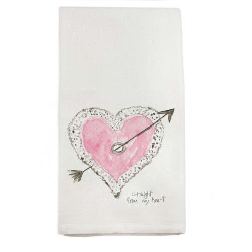 Straight From the Heart Dishtowel