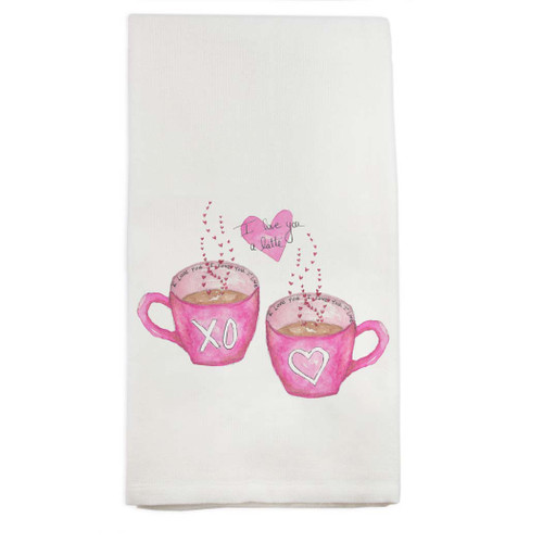 Love You a Latte Dishtowel