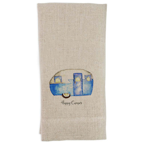 Happy Campers Blue Guest Towel