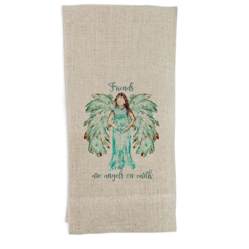 Angel White with Quote Guest Towel