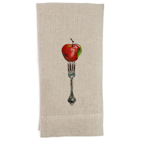 Fork with Apple Guest Towel