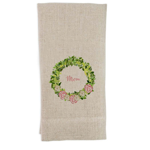 Wreath with Flowers Mom Guest Towel