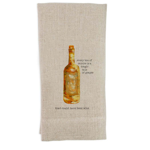 Tragic Tale of Wine Guest Towel