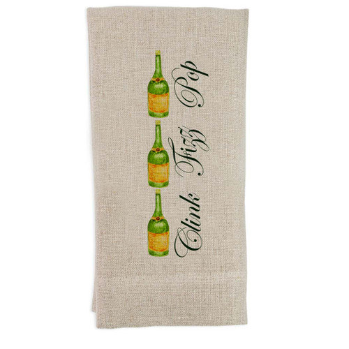 Champagne Pop Fizz Clink Guest Towel