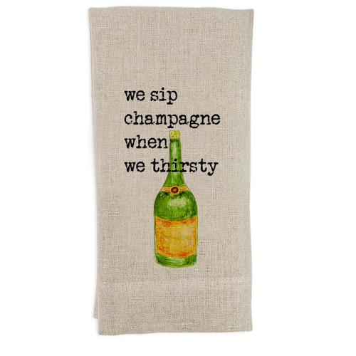 We Drink Champagne Guest Towel