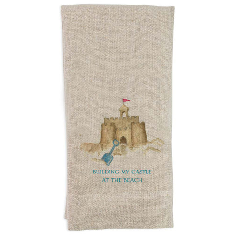 Sand Castle with Quote Guest Towel