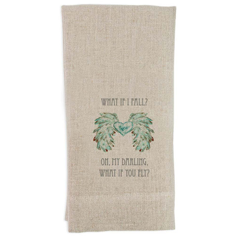Wings with Heart What if I Fail Guest Towel