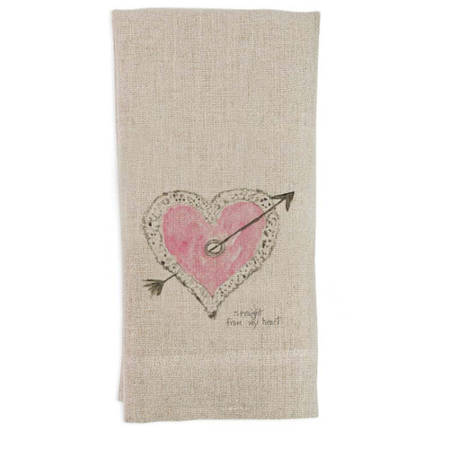 Straight From the Heart Guest Towel