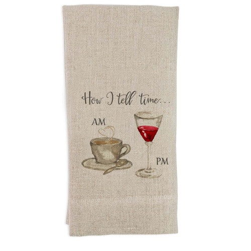 How I tell Time Guest Towel