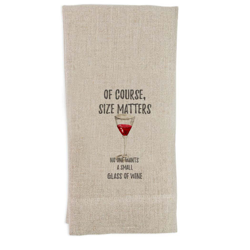 Of Course Size Matters Guest Towel