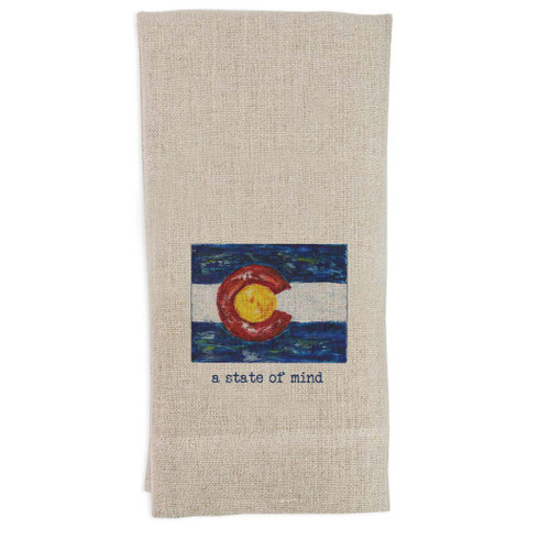 Colorado Flag with Quote Guest Towel