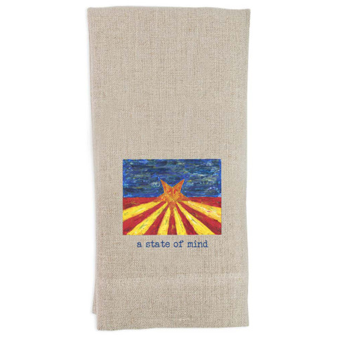 Arizona Flag with Quote Guest Towel