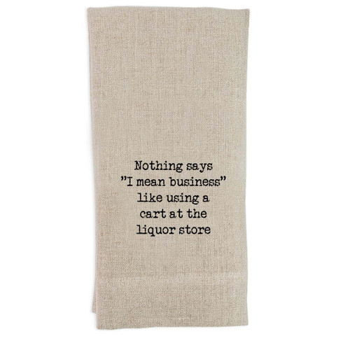 Nothing Says Business Guest Towel