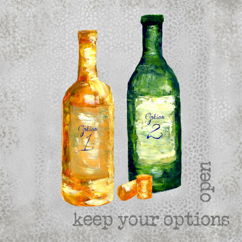 Keep Your Options Open Coaster