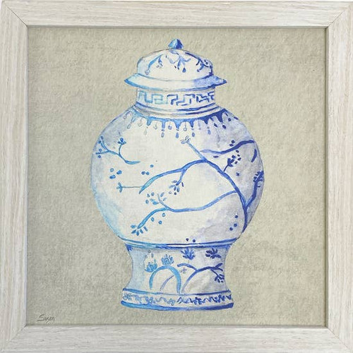 Blue Jar Wall Art 10X10