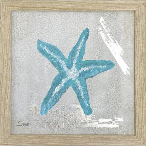 Starfish Blue Wall Art 10X10