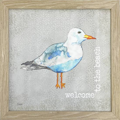 Seagull Welcome Wall Art 10X10