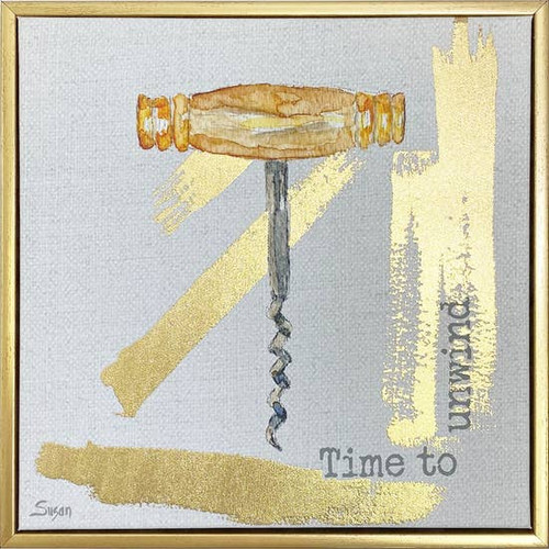 Time to Unwind Wall Art 10X10