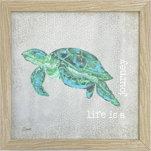 Turtle Quote Wall Art 10X10