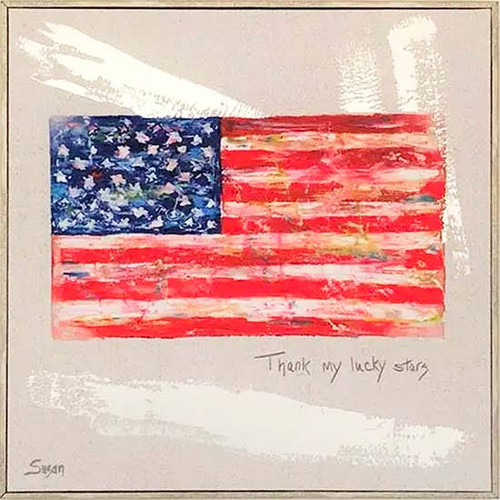 Flag Wall Art 20X20