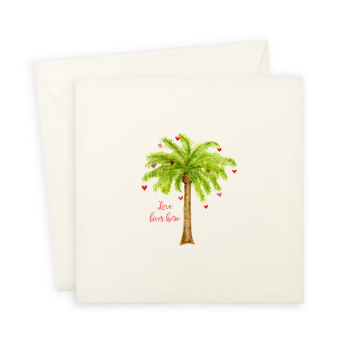 Palm Tree with Love Lives Here Note Card