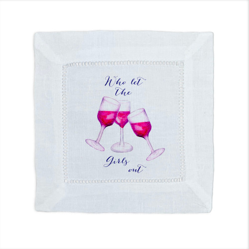 Who Let the Girls Out Cocktail Napkin