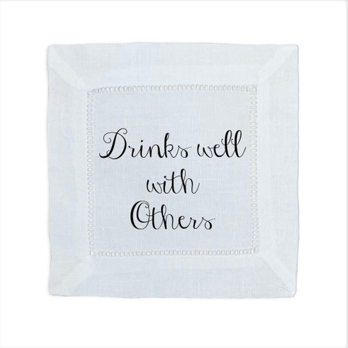 Drinks Well With Others Cocktail Napkin