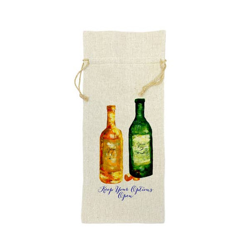 Keep Your Options Open Wine Bag