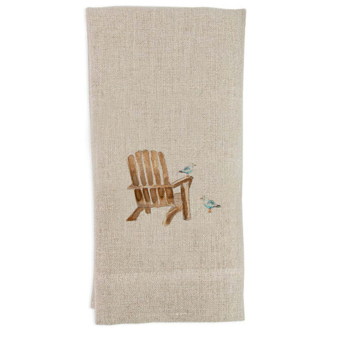 Beach Chair with Seagull Guest Towel