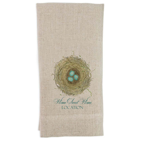 Nest with Home Sweet Home Location Guest Towel
