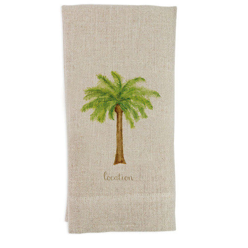 Palm Tree with Location Guest Towel