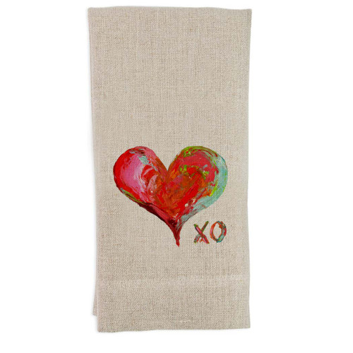 Colorful Heart with XO Guest Towel
