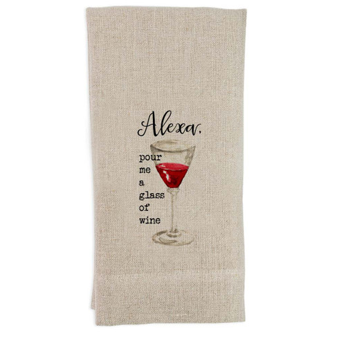 Alexa Wine Glass Guest Towel