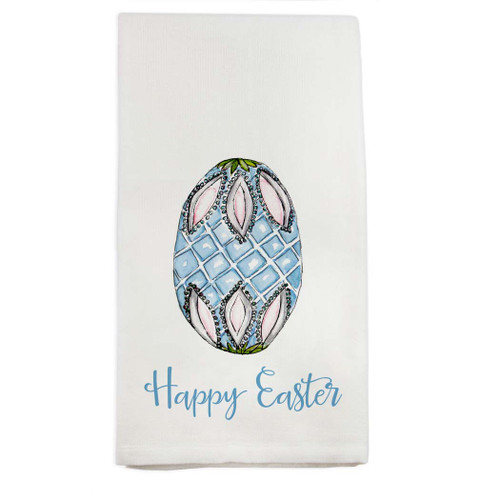 Fab Egg Blue with Happy Easter Dish Towel