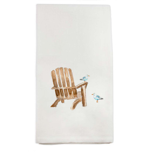 Beach Chair with Seagull Dish Towel