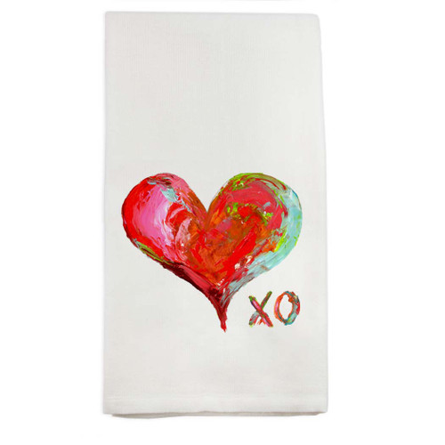Colorful Heart with XO Dish Towel
