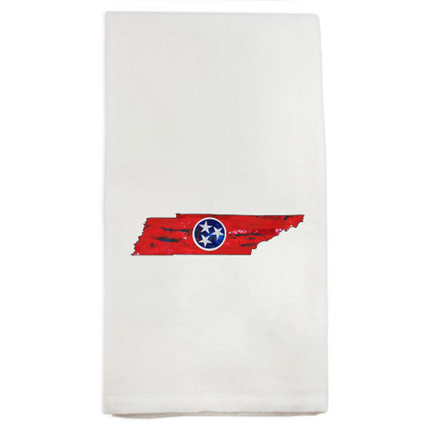 Tennessee State Outline with Flag Dishtowel