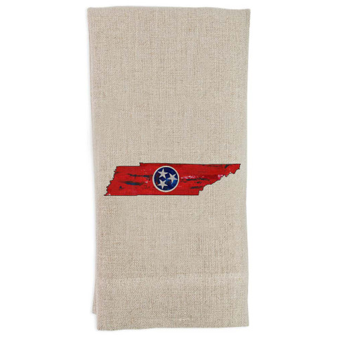 Tennessee State Outline with Flag Guesttowel
