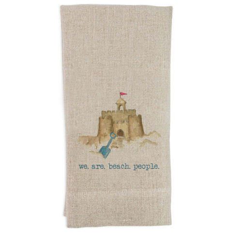 Sand Castle We Are Beach People Guesttowel