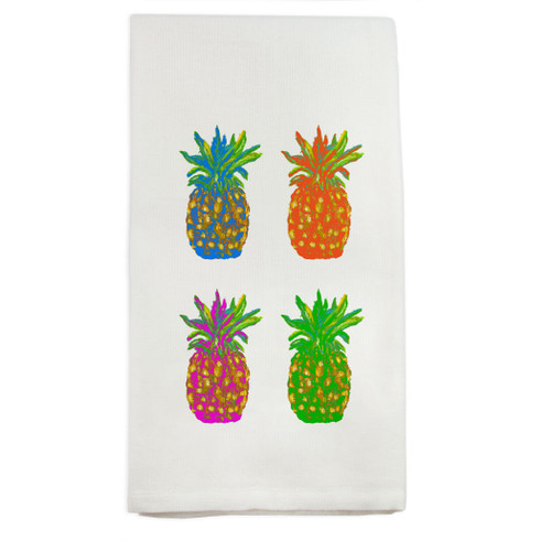 Popping Pineapples Dishtowel