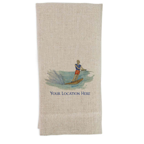 Water Skier with Location Guesttowel