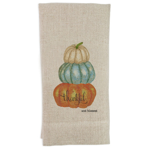 Pumpkins Thankful and Blessed Guesttowel