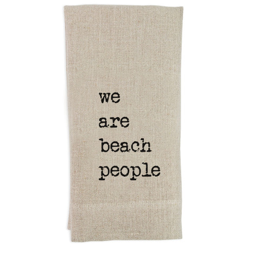 We Are Beach People Guesttowel