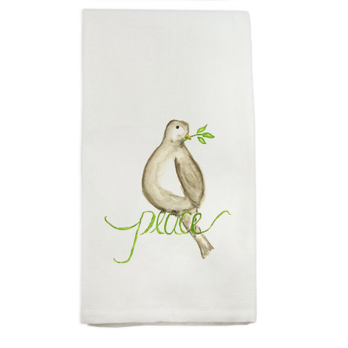 Peace Bird Dishtowel