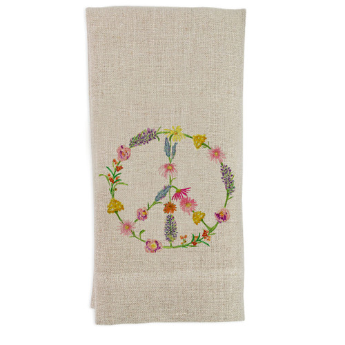 Peace Sign Flower Guesttowel