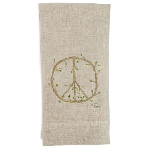 Peace Grows Here Guesttowel