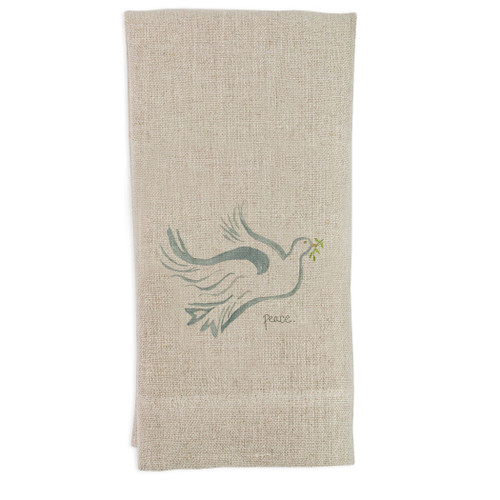 Flying Peace Dove Guesttowel