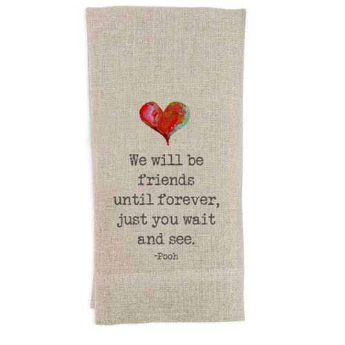 We Will Be Friends Guesttowel