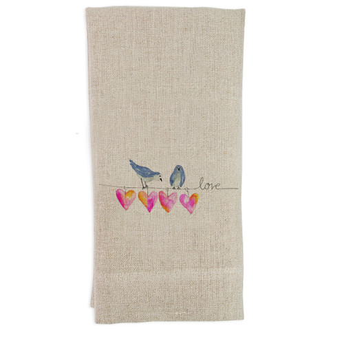 Hearts on a Wire Guesttowel
